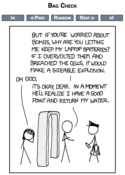Bag Check from xkcd com | Brobrubel's Blog