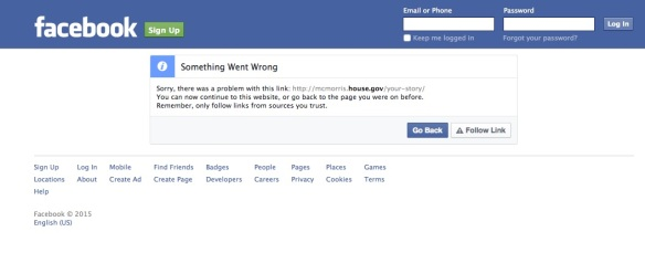 facebook sorry copy
