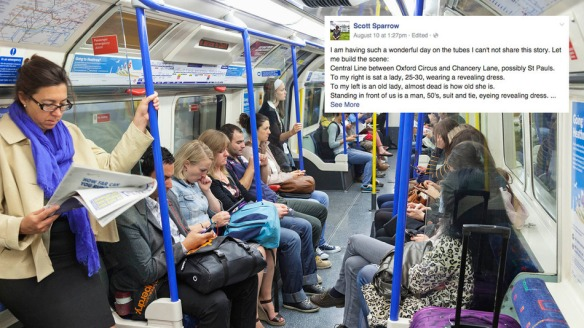 England,London,London Underground,Passengers on Train