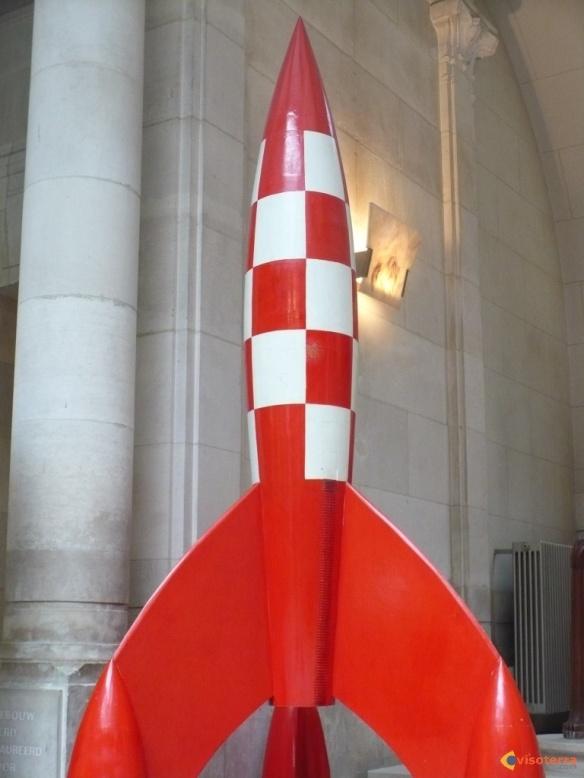 La fusée de Tintin au musée de la BD, à Bruxelles. http://www.visoterra.com