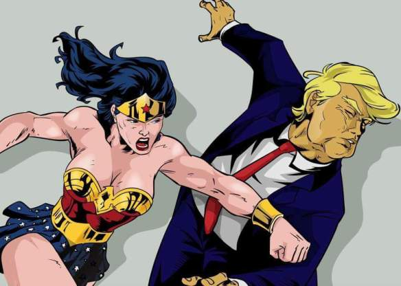 wonder-woman-punches-trump